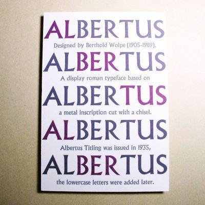 ディスプレイローマン書体 #Albertus designed by Berthold Wolpe